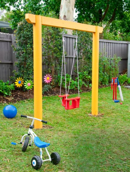 7 free garden swing plans free porch swing plans how for Playground building plans