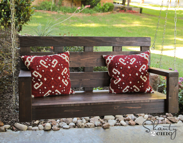 Free porch swing plans how to build a garden swing for Easy porch swing