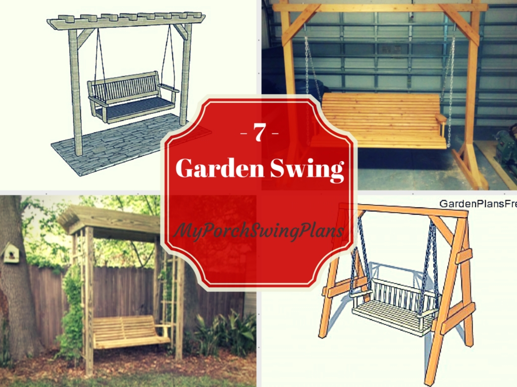 7 free garden swing plans free porch swing plans how for Outdoor swing plans