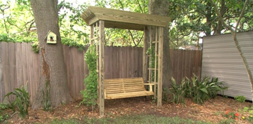 how build backyard arbor swing