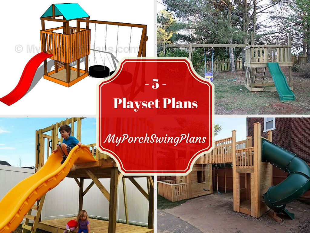 5 free outdoor playset plans free porch swing plans how to build a garden swing - How to build an outdoor wooden playground ...