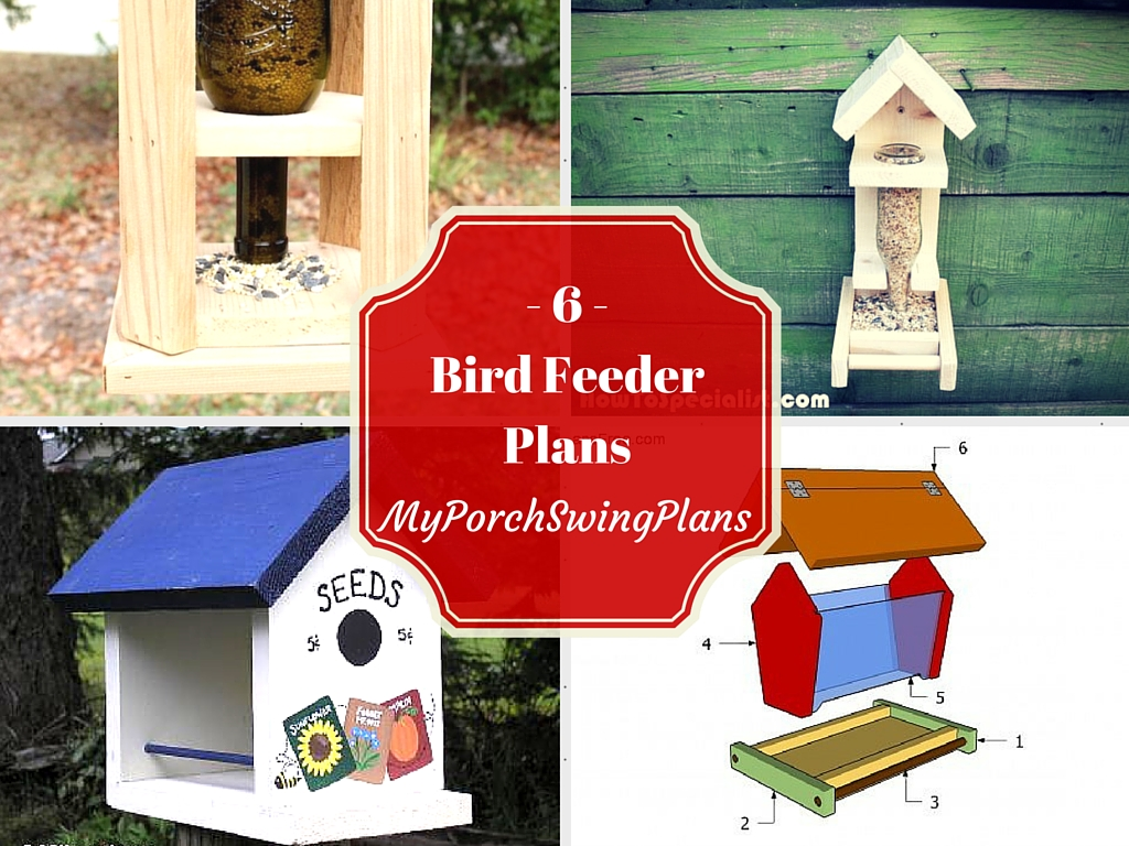 6 Free Bird Feeder Plans Free Porch Swing Plans How To Build A Garden Swing