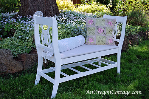 French-Styled Bench with pillows